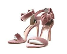 17e4b2e65b4ba New  198 Ted Baker London Women s Heels Velvet Blush Zipper Back Size ...