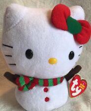 Christmas Ty Beanie Babies Hello Kitty SNOWKITTY Collectible PLUSH
