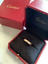 Cartier 18k Rose Gold Mini Love Wedding Ring Size 59 8.5 Cartier Box