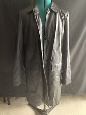 American Eagle Mid Length Leather Jacket Womens Size Large
