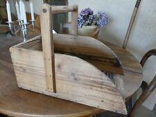 RARE Ancien panier en bois Pelle à charbon déco cheminée Poêle populaire Savoie