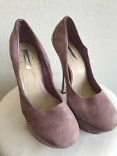 H by HALSTON Womens Platform STILETTO LEATHER HEELS Pink Sided SIZE 9B