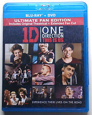 """ONE DIRECTION 1D """"THIS IS US"""" Blu-ray + DVD 2-Disc Set ULTIMATE FAN EDITION 2013"""