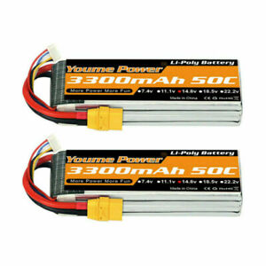 2pcs 14.8V 4S 3300mAh LiPo Battery XT90 for RC Car Helicopter Airplane Quad Boat