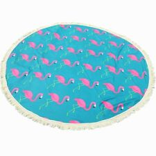 Flamingo Yoga Mat Gypsy Cotton Tablecloth Beach Throw Colorful & Easy to Clean