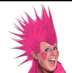 NIP NEW Amscan Adult Wig Mohawk Colorful Halloween  Pink  80's Punk
