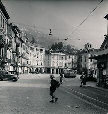LUGANO c. 1950 - Place Tramway Suisse - DIV 3422