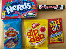 Rainbow NERD Sweets 141g Box And Other Retro Sweets Rainbow Drops Popping Candy