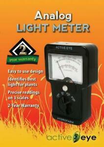 Hydrofarm Analog Light Meter Footcandles Healthy Plant Growth Lighting Systems