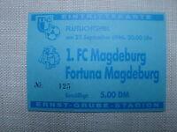 TICKET Eintrittskarte 1996 1.FC Magdeburg Fortuna MAGDEBURG OBERLIGA FCM DDR