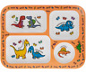 Childrens Sections Dinner Plate - Sectioned Plate - Dinosaur/Unicorn Kids Gift
