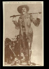 Buffalo Bill Famous Plainsman and Scout Vintage Postcard Photo Sanborn, Denver