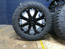 "20x10 Ion 141 33"" Mt Black Wheels Rims & Tire Package 5x5.5 Dodge Ram 1500"