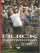 JOHN DALY SIGNED AUTO'D BUICK INVITATIONAL SPECTATOR GUIDE MAGAZINE PGA OPEN C