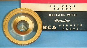 Vintage RCA 101015-B TV Knob Fine Tuning 1950-60's Clear Plastic /Gold Trim NOS