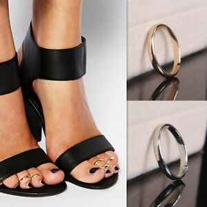 Women's: Classic, Fully Adjustable/Resizable White Gold/Yellow Gold Toe Ring