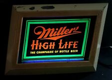 Vintage Collectible Advertising Miller High Life Beer, Lighted Metal Bar Sign
