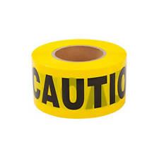 Yellow Caution Barricade Tape 3 Inch x 1000 Feet