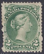 Canada 2c Large Queen, Scott 24, VF RG, catalogue - $1,400
