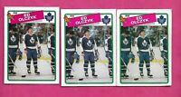 3 X 1988-89 OPC  # 125 LEAFS ED OLCZYK   CARD (INV# C1943)