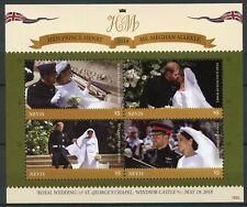 Nevis 2018 MNH Prince Harry & Meghan Royal Wedding 4v M/S Royalty Stamps
