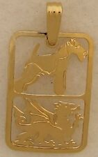 Welsh Terrier Jewelry Gold Pendant by Touchstone