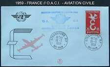 AVIATION CIVILE - CONSEIL DE L EUROPE / 1959  ENVELOPPE FDC (ref 4876)