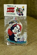 Vintage Wood Disney Merry Mickey Christmas Ornament Set Pinocchio Figaro Z4