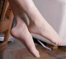 10 pair Thin Women Elastic Velvet Silky Short Silk Stockings Ankle Socks Beige