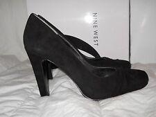 Nine West New Womens Shamira Black Suede Leather Heels 5.5 M Shoes NWB