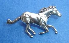 Western Decor ~Running Horse R~ Polished Silver Concho