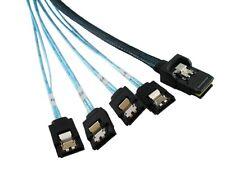Mini SAS 4i 36P SFF 8087 to 4 SATA 7P The reverse With Latch Cable 100cm