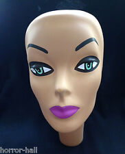 Prop Building Supply-MANNEQUIN HEAD FORM FACE COVER-Halloween costume Mask-WOMAN