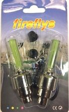 1 Set Fireflys Green Safety LED Bike Car Tire Wheel Valve Lights For Sale OOS
