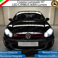 KIT FULL LED VW GOLF 6 VI LED H7 6500K 8000 LM XENON CANBUS + SUPPORTI MONTAGGIO