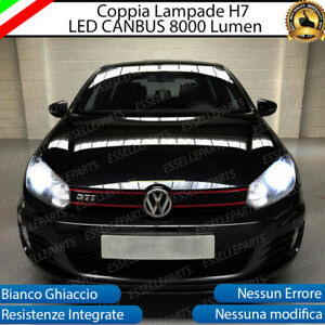 KIT FULL LED VW GOLF 6 VI LED H7 6500K 8000 LM XENON CANBUS + SUPPORTI MONTAGGIO