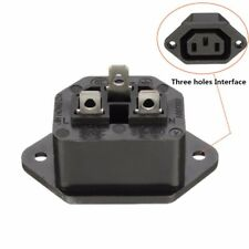 IEC C13 Chassis Female 15A 250V 3PIN AC Power Socket Plug Adapter Connector