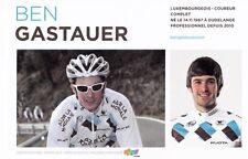 CYCLISME carte cycliste BEN GASTAUER équipe AG2R prévoyance 2011