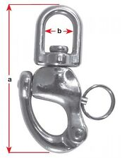 QUICK RELEASE - WATER SKI RACING - STAINLESS STEEL SNAP SHACKLE - LARGE