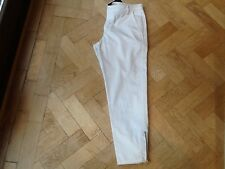 NWT Juicy Couture New & Gen. Ladies Small White Cotton Skinny Crop Trousers UK 8