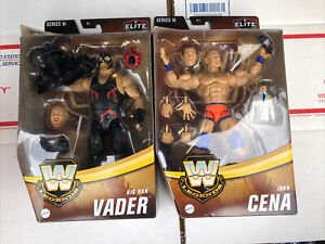 WWE Elite John Cena & Big Van Vader Figure Lot Legends Series 10 TARGET 2021 WWF