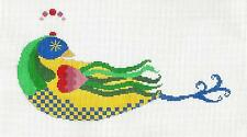 *NEW* ELEGANT BIRD + Stitch Guide HP Needlepoint Canvas from Mile High Princess