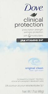 3 pack Dove Clinical Protection Original Clean Antiperspirant Deodorant 1.7oz...