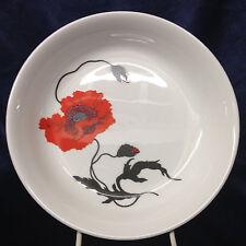 "WEDGWOOD ENGLAND CORNPOPPY COUPE SOUP BOWL 8"" SUSIE COOPER ORANGE FLOWER"