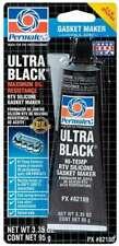 PERMATEX Ultra Black Gasket Maker 3.35 oz Carded Tube 82180