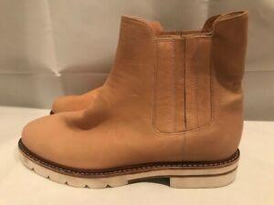 Stuart Weitzman Slip On Leather Ankle Boots, Size 6.5