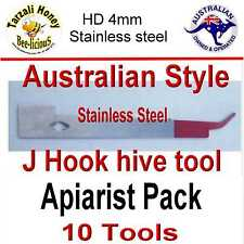 BEE KEEPING J  STYLE  AUSSIE HIVE TOOL  X 10  HD STAINLESS STEEL APIARIST PACK