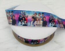 Bts Boy Band Grosgrain Ribbon Korean Boy Band 1.5� 2 Yards