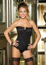 Shirley of Hollywood Lace overlay satin corset