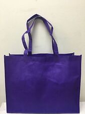 SHOPPING BAGS ECO FRIENDLY REUSABLE RECYCLABLE GIFT EVENT BAG PURPLE 10 PCS LG